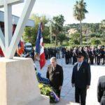 10 novembre 2010 : Pierre Simonet , dernier compagnon varois de la Libération (à droite) a déposé une gerbe