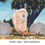Stèle aux morts des maquis des Chambarands édifiée à Viriville (Isère)