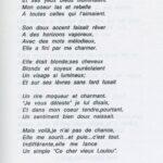 Poème dédié a Louise KAPP, fille de l'enseignant en poste a Obenheim à l'époque