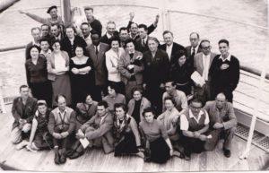 Groupe du B.I.M à bord de la Marseillaise (Pèlerinage Bir Hakeim 1955)