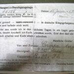 Lettre de Crippa Angelo de captivité à sa famille