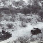 Convoi dans une vallée en Erythrée