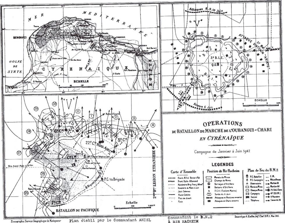 Cartes du BM2 établies par le Général AMIEL