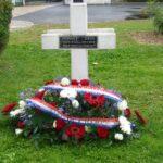 Sépulture de Diego Brosset au cimetière militaire de Rougemont (photos Jacquot-Boileau)