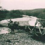Le général et Jean Pierre Aumont passent sur le pont du Rahin la veille de l'accident