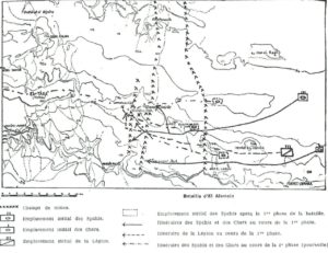 Carte de la Bataille d'El Alamein