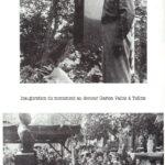 Inauguration de la stèle du Docteur VALOIS à Tullin