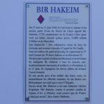 La plaque Bir Hakeim